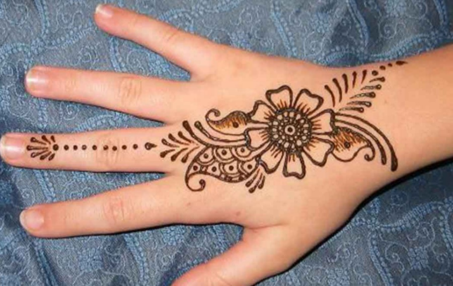 Easy and Simple Mehndi for Front & Back Hand